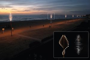 Flow bamboo lamp panorama