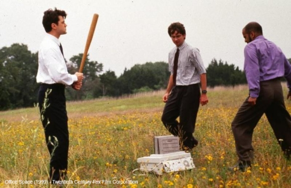 pay-off sceene - office space film