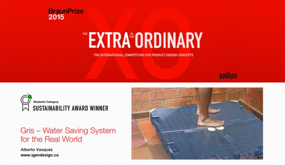 Gris water saving system_by Alberto Vasquez_IgenDesign_BraunPrize2015